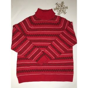 Lands End Red Nordic Sweater - size Large